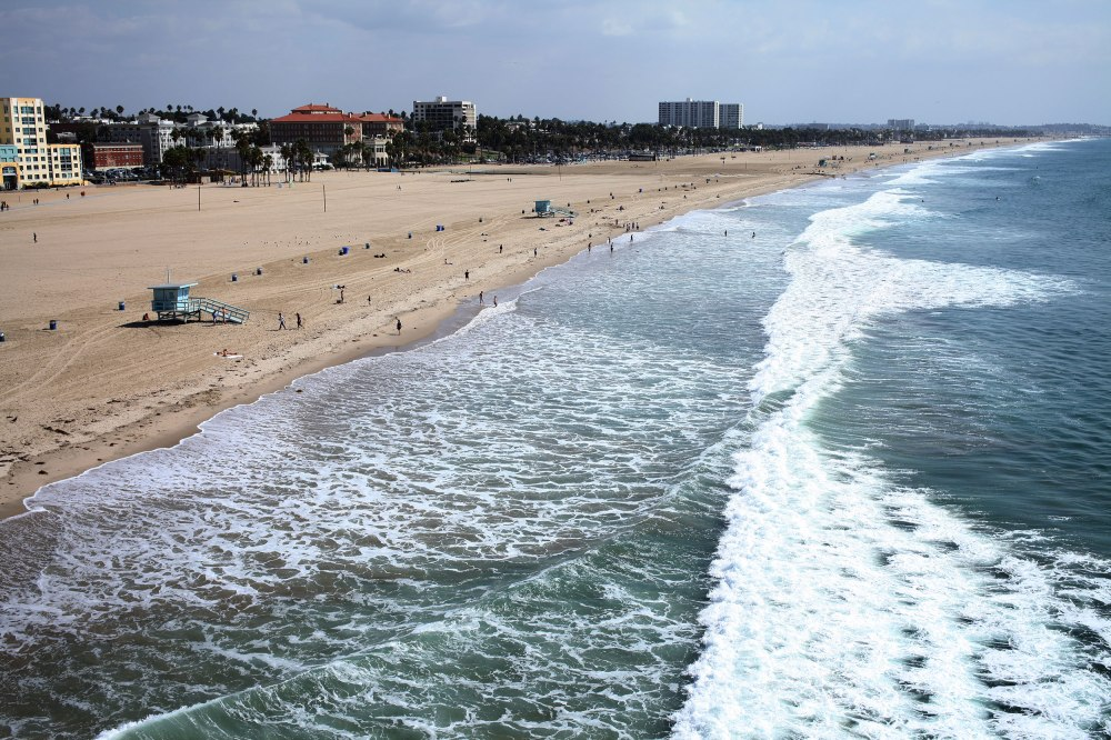 The view from the ferris wheel on the Santa Monica Pier was a 180 from the previous 24 hours' worth of events.