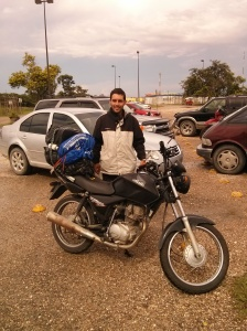 Thiago is riding from Alaska to Brazil, trying now to get through the Belize border Photo: Nathaniel Chaney.