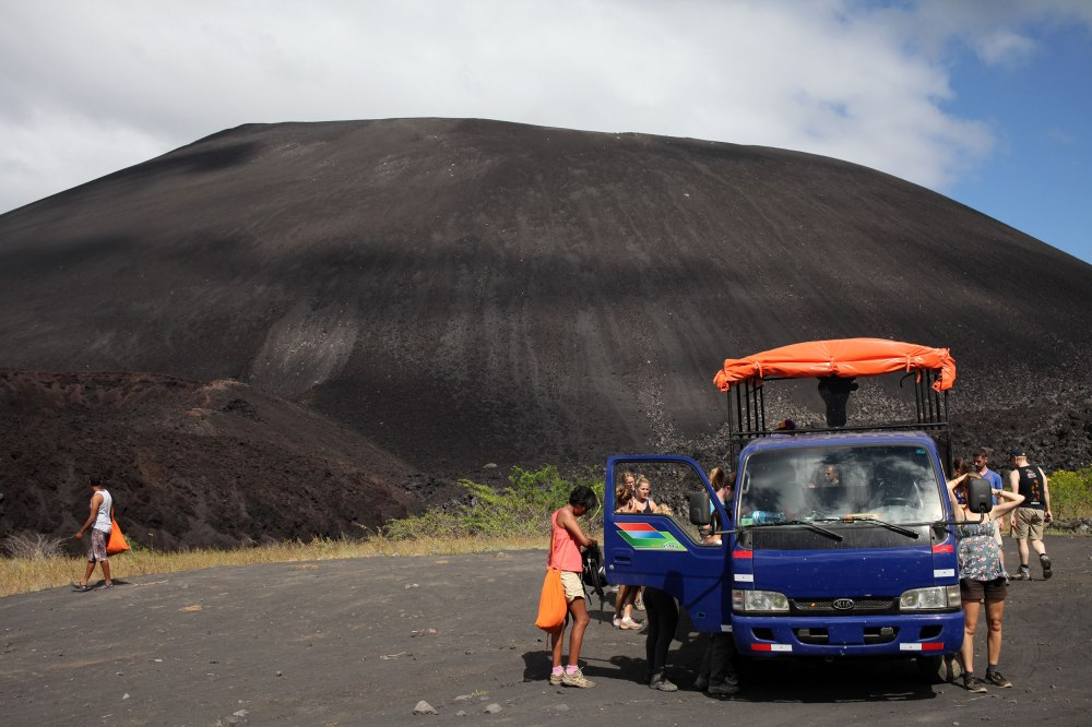 Our Volcano Boarding group arrives to Cerro Negro. Photo: Alex Washburn
