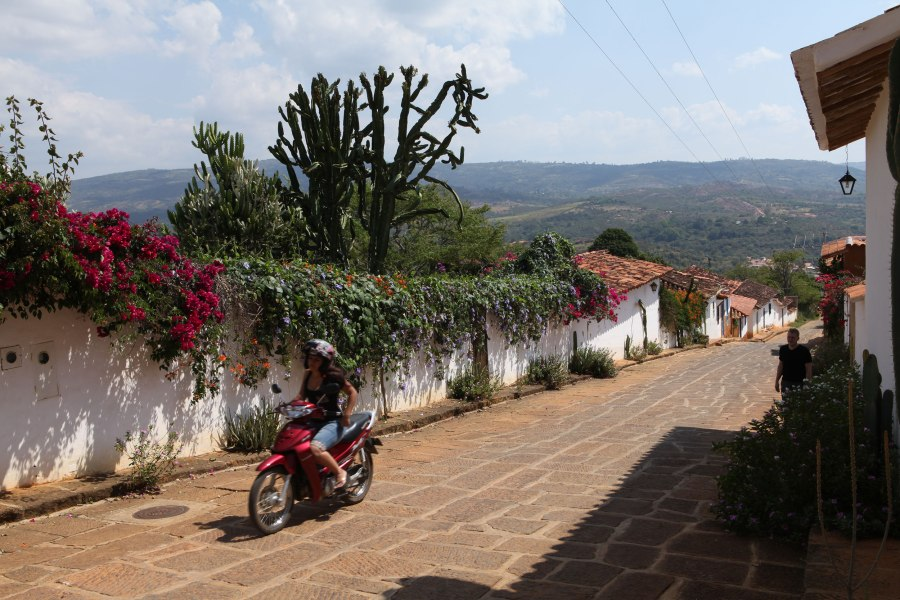 In Barichara you are always either walking up or down a hill. It creates lovely views from every street! Photo: Alex Washburn