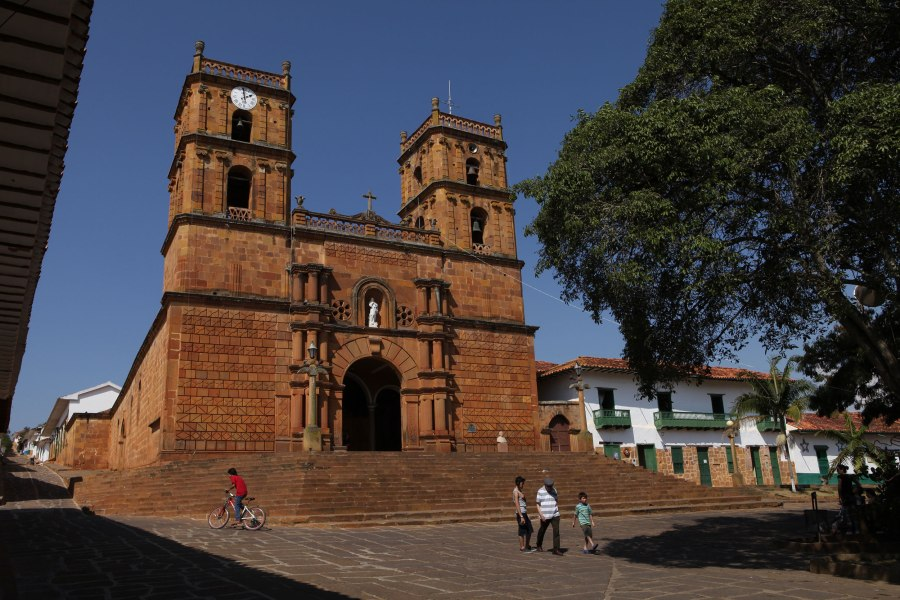 The Cathedral of Barichara dates back to 1705 and seems to dwarf the tiny puebla on the hillside. Photo: Alex Washburn