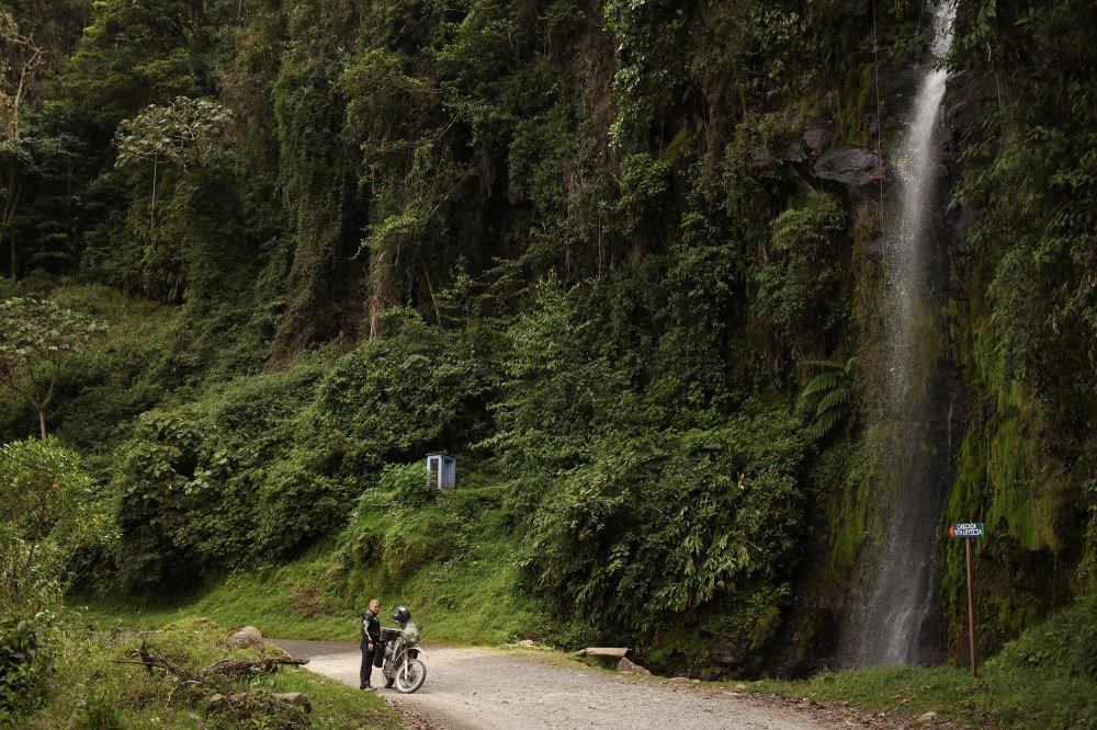 Between La Plata and Popayan we found the Staleticia waterfall. We pulled over without discussing it and just stopped to appreciate it for a minute. Photo: Alex Washburn