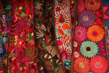 An example of the textiles for sale in Otavalo. Photo: Alex Washburn