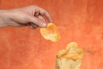 Mexico has potato chips too and they are usually doused in hot sauce. I've fallen in love with the slightly thicker and much larger Colombian potato chips. They can be a little oil heavy from some vendors, but the texture is unbeatable. Photo: Alex Washburn