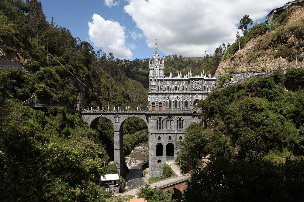 The Santuaria de Las Lajas is an incredible place to visit... When we arrived I couldn't help thinking 'Colombia just HAD to wow us one more time.' Photo: Alex Washburn