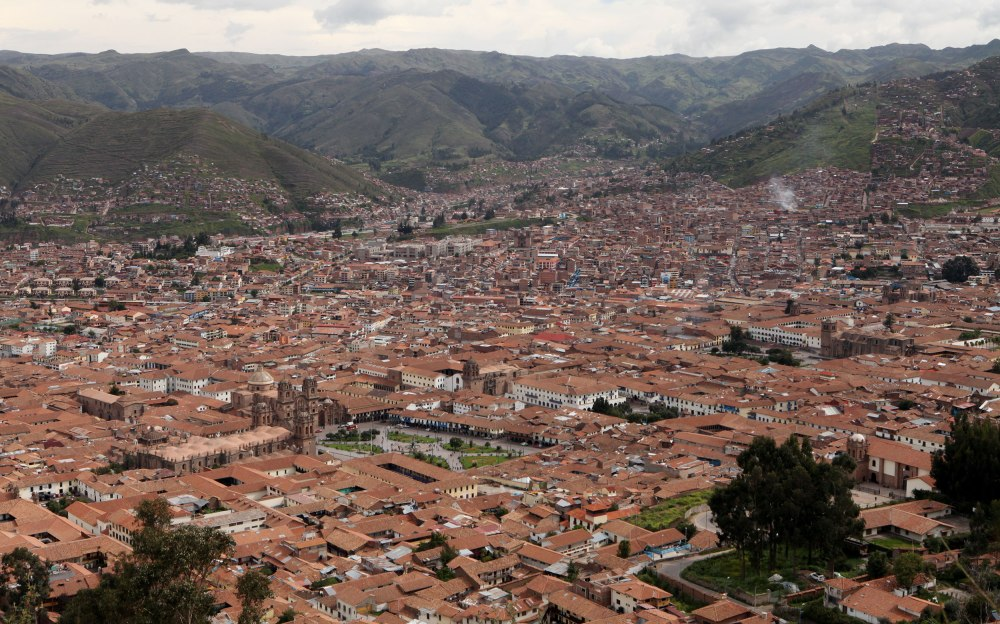Cusco as viewed from Christo Blanco. Photo: Alex Washburn