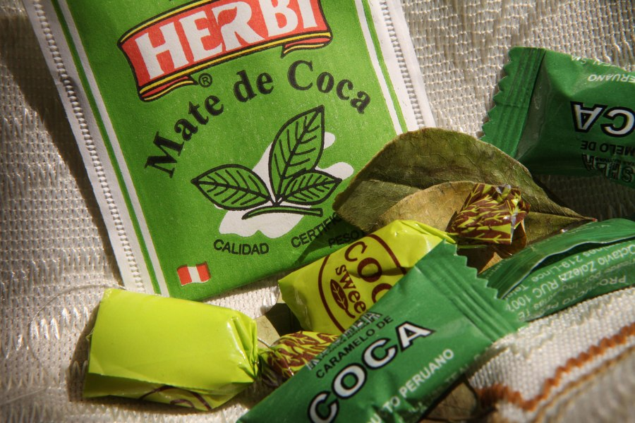 More things to help you with the altitude: Coca tea bags and candy. Photo: Alex Washburn