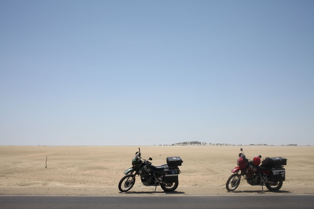We got to a point on our first day rolling through the Sechura desert where we just slowed to a stop in awe of the nothingness surrounding us. Photo: Alex Washburn