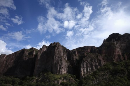 I couldn't stop staring at the rock formations on our last day of riding into Cusco. They were amazing! Photo: Alex Washburn