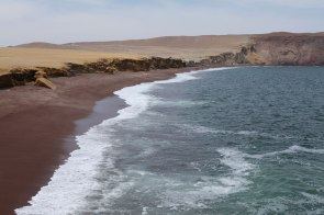 The red sand beach in La Reserva Nacional De Paracas. Photo: Alex Washburn