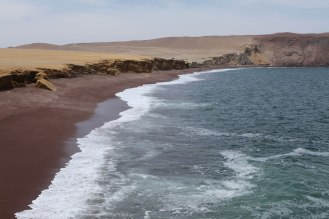 The red sand beach in La Reserva Nacional De Paracas. Photo: Alex Washburn