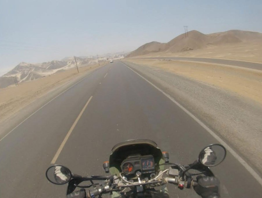 Even slight changes in scenery were exciting during our 700+ mile ride through the desert. Photo: Nathaniel Chaney