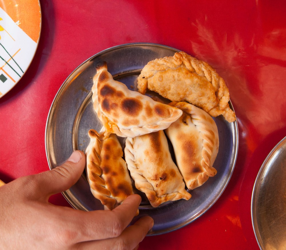 Salta Argentina claims to be the inventor of the empanada. Patio de empanada pits over half a dozen empanada places against each-other and the result is glorious.  Photo: Alex Washburn
