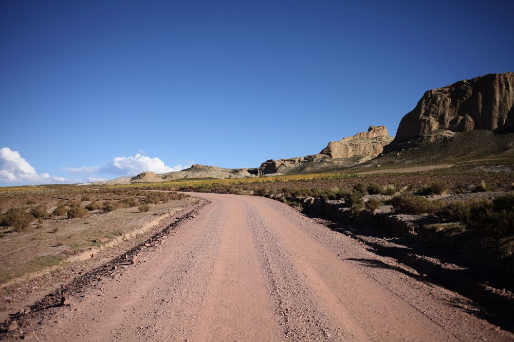 The road from Uyuni to Tupiza was deceptively vicious. 120+ miles of gravel, sand, undulating ripples and very few people. Photo: Alex Washburn