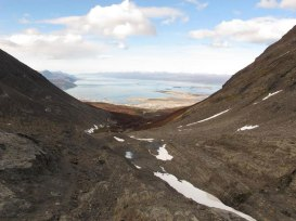 A view of Ushuaia and Beagle Bay from Nathaniel's hike. Photo: Nathaniel Chaney