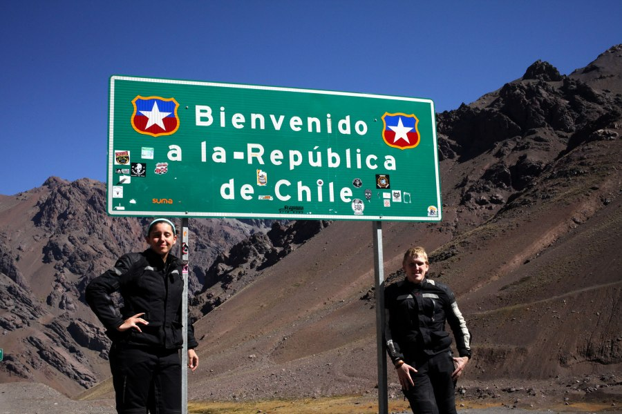 We stopped to take a photo with this sign along with two Harley-Davidson riders. One of the Harley guys used to be the official photographer of HOG Chile so he took this photo for us. Photo: HOG Guy